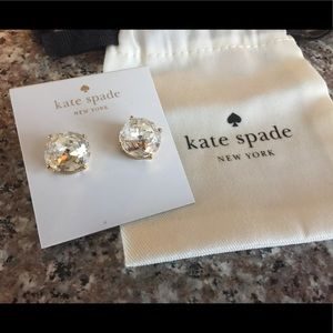 NWT Kate Spade Crystal Clear Earrings